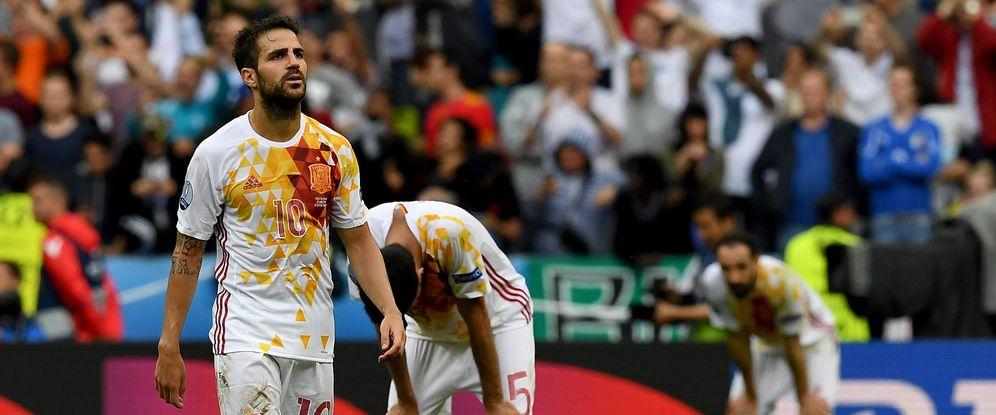 Foto: Cesc Fábregas jugó su último partido con la selección española ante Italia en la Eurocopa de Francia (EFE)