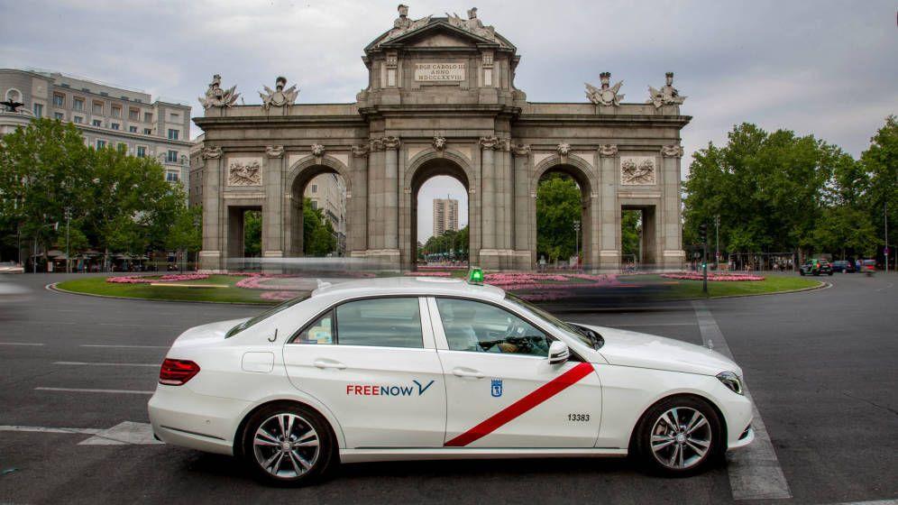 Foto: Un taxi que funciona con FreeNow (antes MyTaxi) en Madrid. (Foto: cedida)