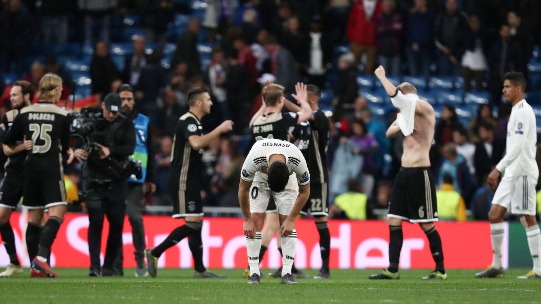 Foto: La catástrofe de un Real Madrid que hace un ridículo mayúsculo contra el Ajax. (Reuters)