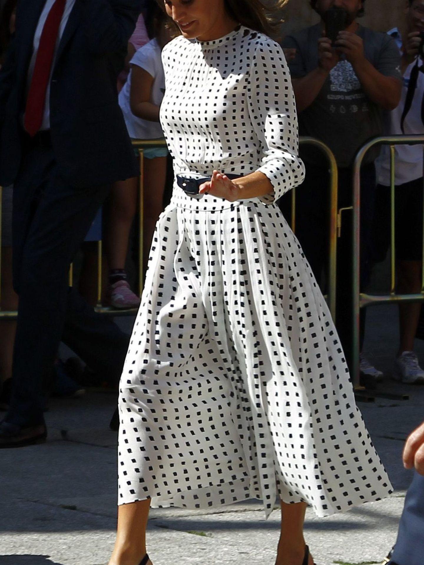 La Reina con su vestido el pasado 18 de septiembre.
