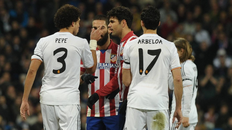 Pepe, Arda, Diego Costa y Arbeloa en la ida de las semifinales (Cordon Press).