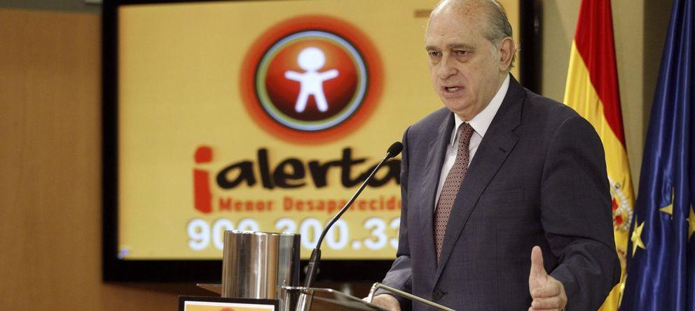 Foto: El ministro del Interior, Jorge Fernández Díaz, durante la presentación del sistema de ¡Alerta, menor desaparecido!