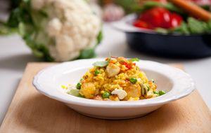Sencillo pero sabroso: arroz de la huerta con pollo de corral