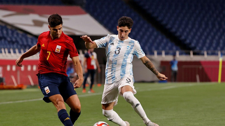 Asensio, durante el encuentro ante Argentina. (EFE)