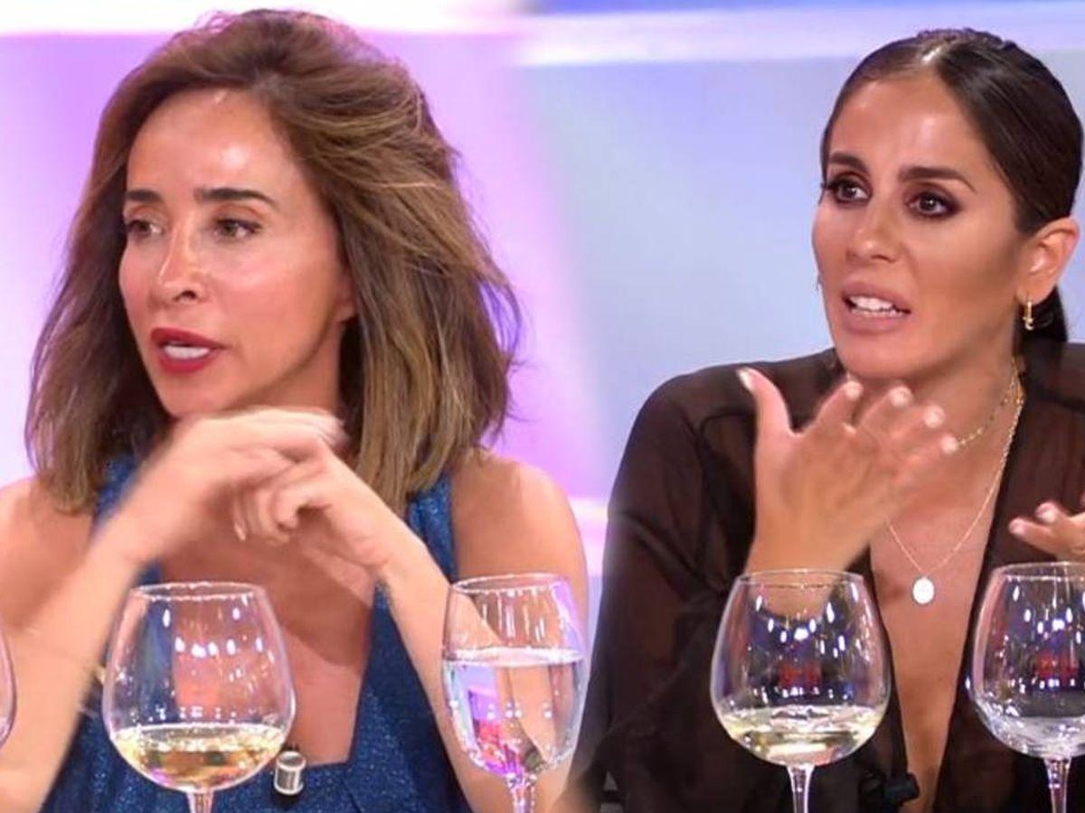 Foto: María Patiño y Anabel Pantoja, en 'La última cena'. (Telecinco)