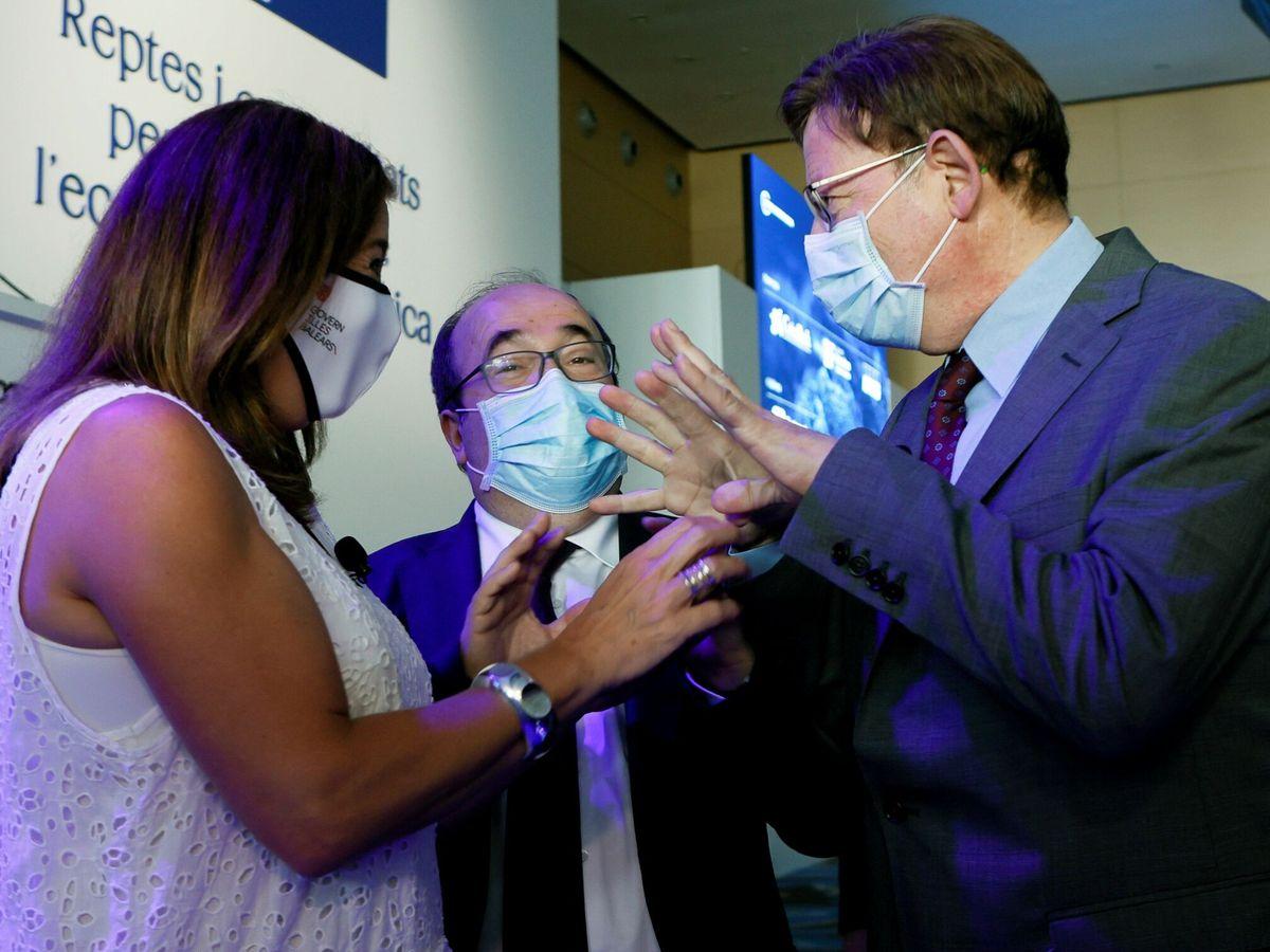 Foto: Francina Armengol, Miquel Iceta y Ximo Puig. (EFE)