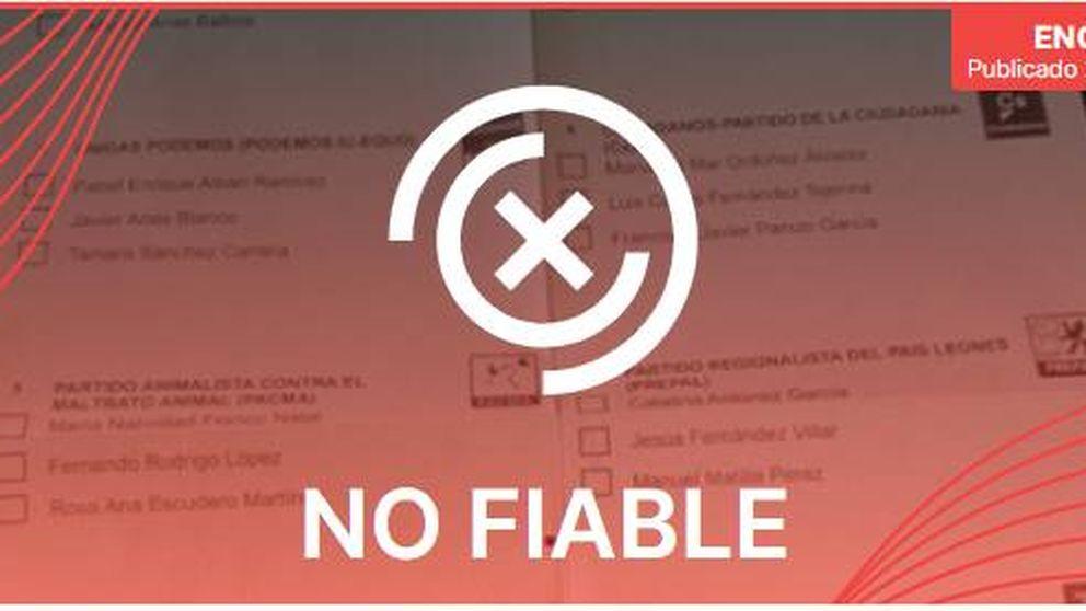 El bulo del día: no, un error tipográfico en la papeleta de Vox no invalida su voto