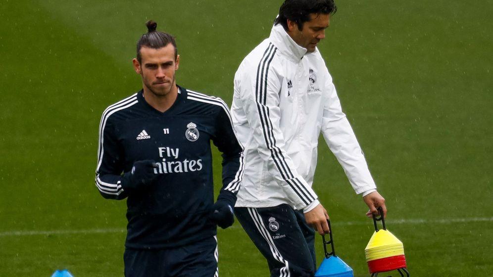 Foto: Santiago Solari en su primer entrenamiento con el Real Madrid. (EFE)
