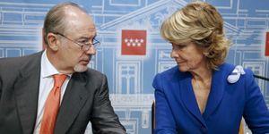 Foto: Rato ofrece a Claudio Aguirre el consejo de Bankia para ganar notoriedad