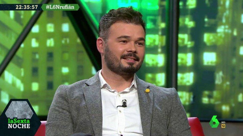 El zasca de Iñaki López a Gabriel Rufián antes de pisar 'La Sexta noche'