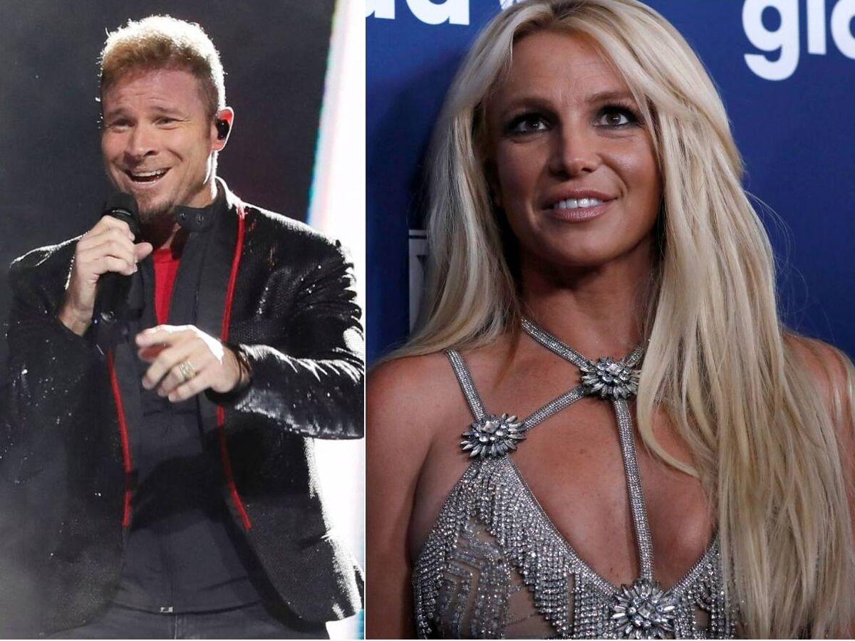 Foto: Brian Littrell y Britney Spears