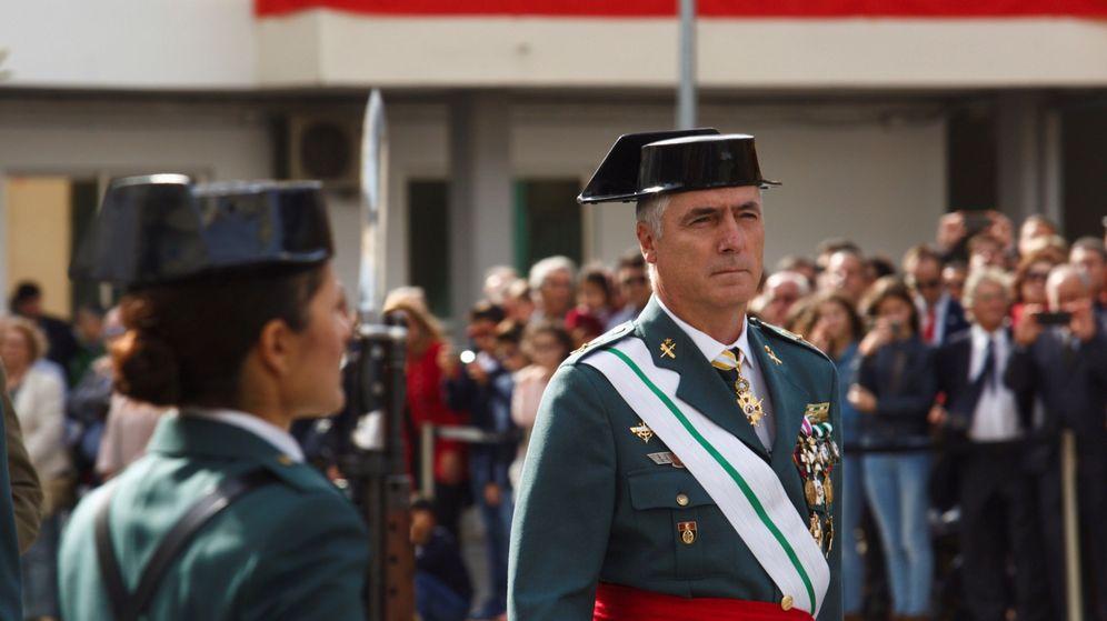 Foto: El general de división Félix Blázquez cuando ejercía como jefe de Zona del País Vasco el 12 de octubre de 2018. (EFE)