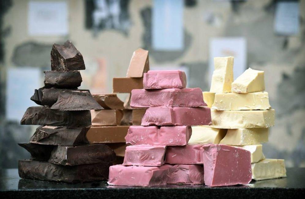 Foto: La cuarta variedad, en rosa.