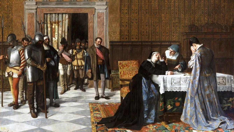 Foto: 'Doña María Pacheco después de Villalar', de Vicente Borrás y Mompó