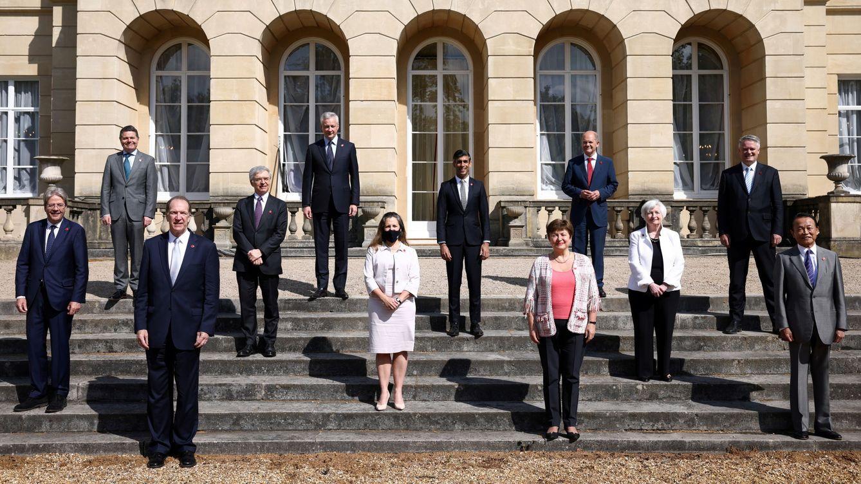 Foto: Foto de familia de la reunión del G-7 en Londres. (Reuters)