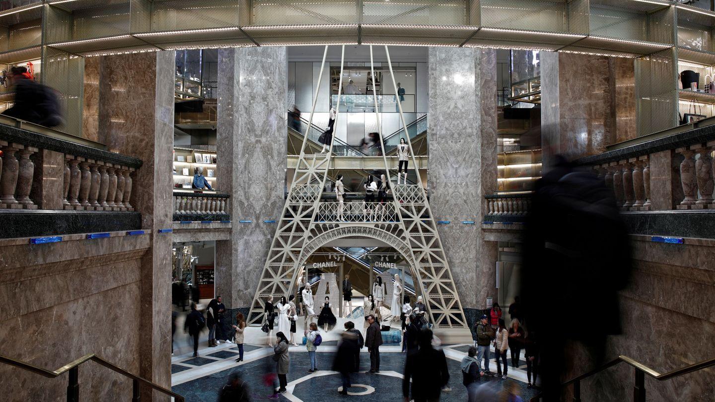Galeries Lafayette, mítico París. (Reuters)