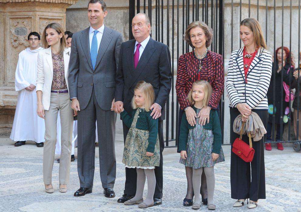 Foto: Don Juan Carlos en abril de 2012, la última vez que acudió a la Misa de Pascua en Palma de Mallorca (Gtres)