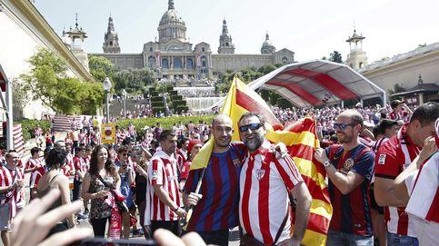 Los aficionados del Athletic toman Barcelona