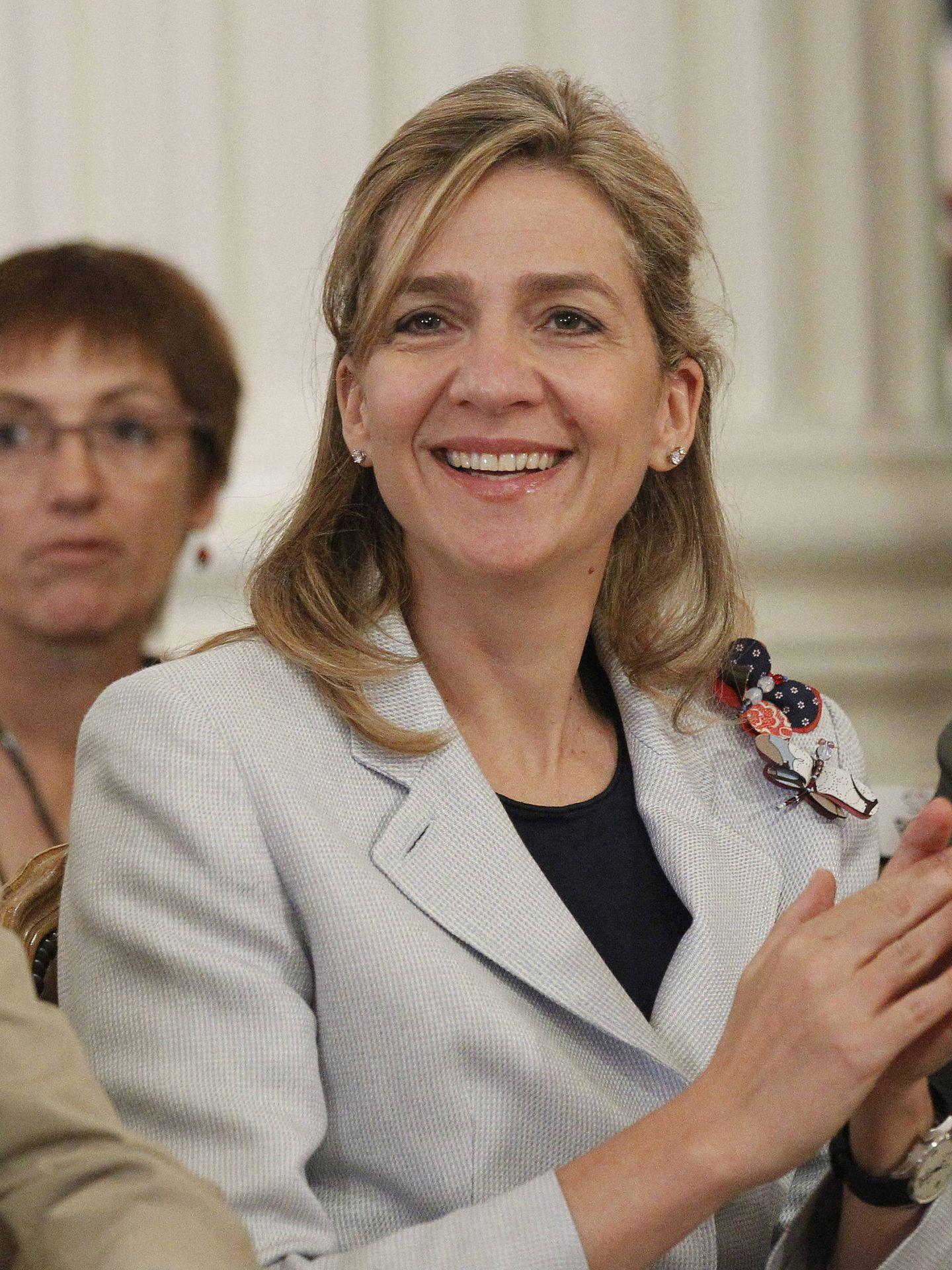 La infanta Cristina de Borbón, en unos premios de La Caixa. (EFE)