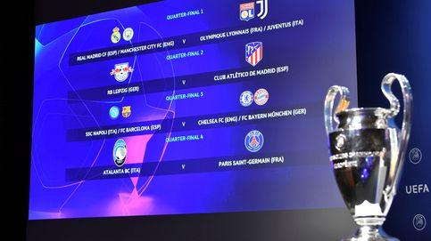 Madrid y Barça, en el cuadrante infernal de la Champions; vía expedita para el Atleti