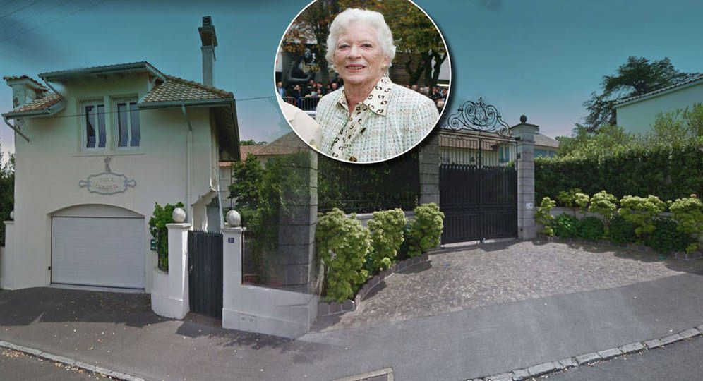 Foto: La fallecida Soledad Cabeza de Vaca, junto a su querida Villa Carlotta, en Biarritz