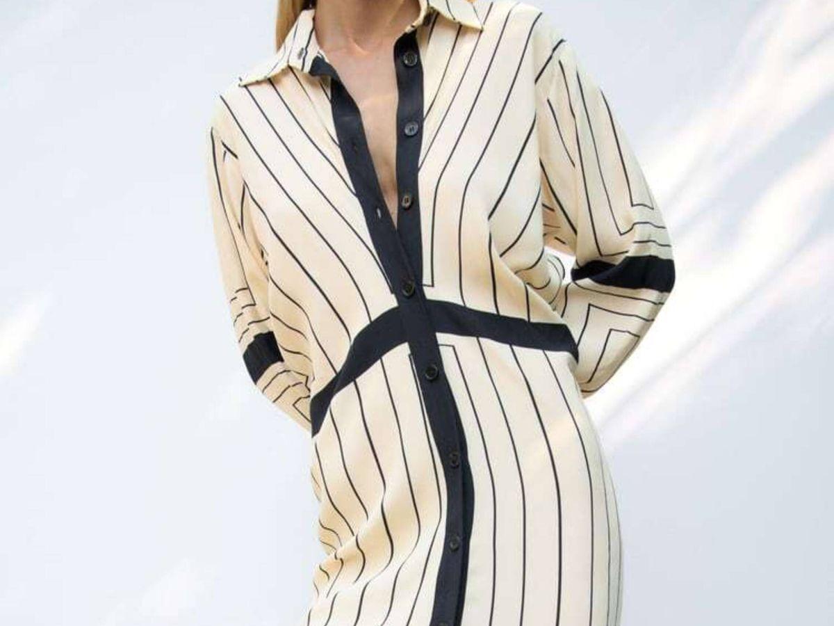 Foto: El vestido camisero de Zara. (Cortesía)