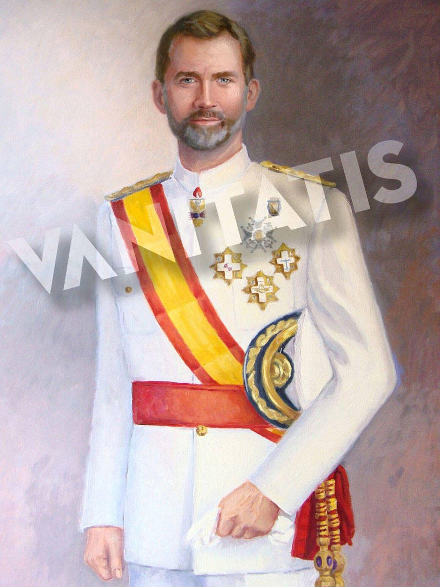 Retrato del rey Felipe. (Imagen cedida por Marta de Arespacochaga. Prohibida su reproducción)