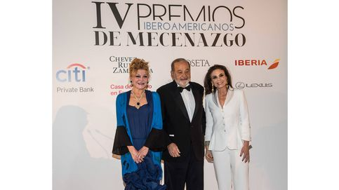 La Baronesa Thyssen y Carlos Slim, mecenas de España e Iberoamérica