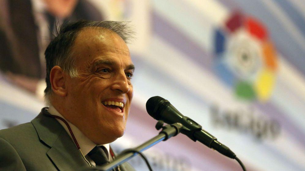 Foto: Tebas se vanagloria de luchar contra la corrupción. (EFE)