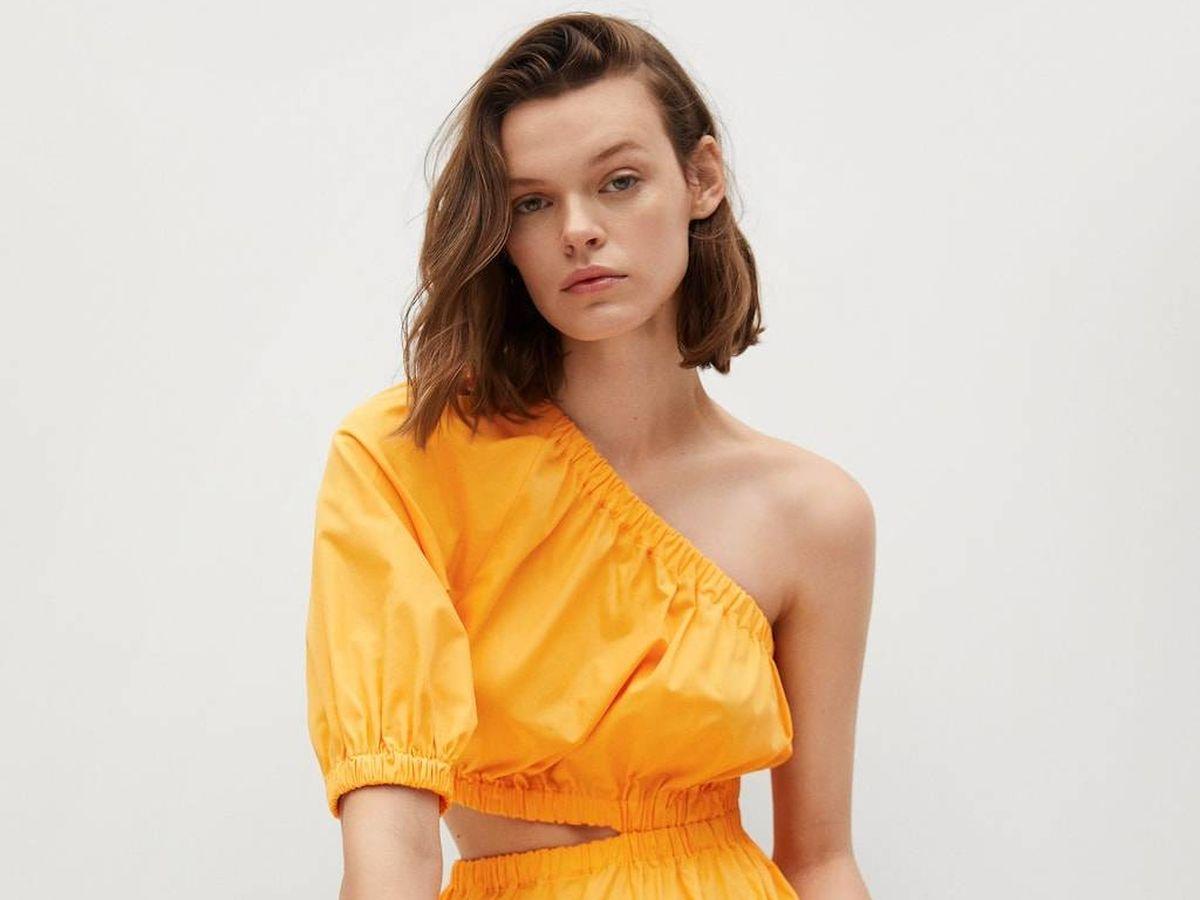 Foto: Vestido amarillo de Mango. (Cortesía)