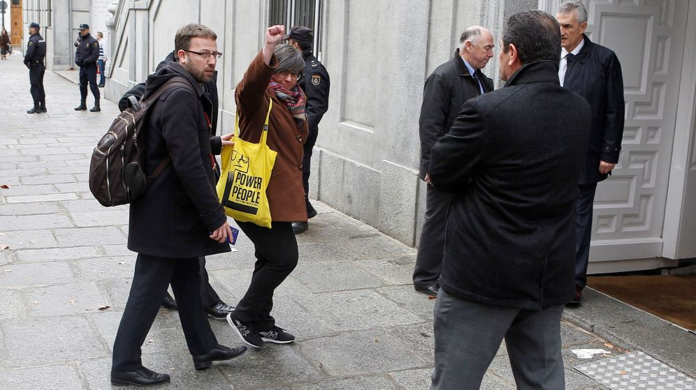 Foto: Mireia Boya a su llegada al TS. (EFE)