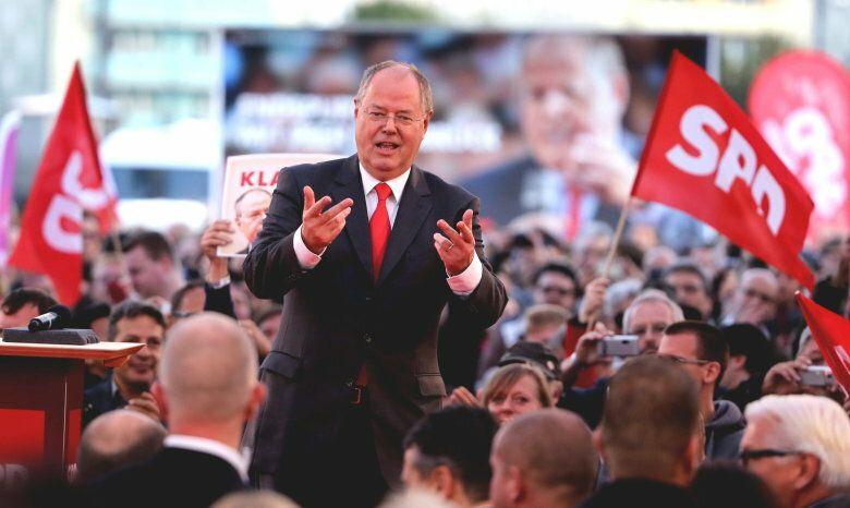 Evento electoral de Peer Steibrück