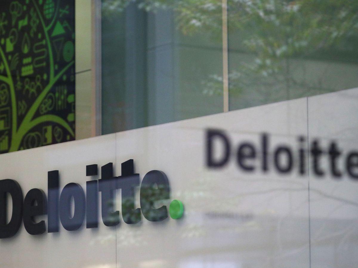 Foto: El logo de Deloitte. (Reuters)