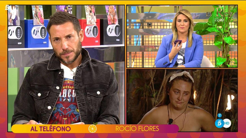 Antonio David Flores y Carlota Corredera, en 'Sálvame'. (Mediaset España)