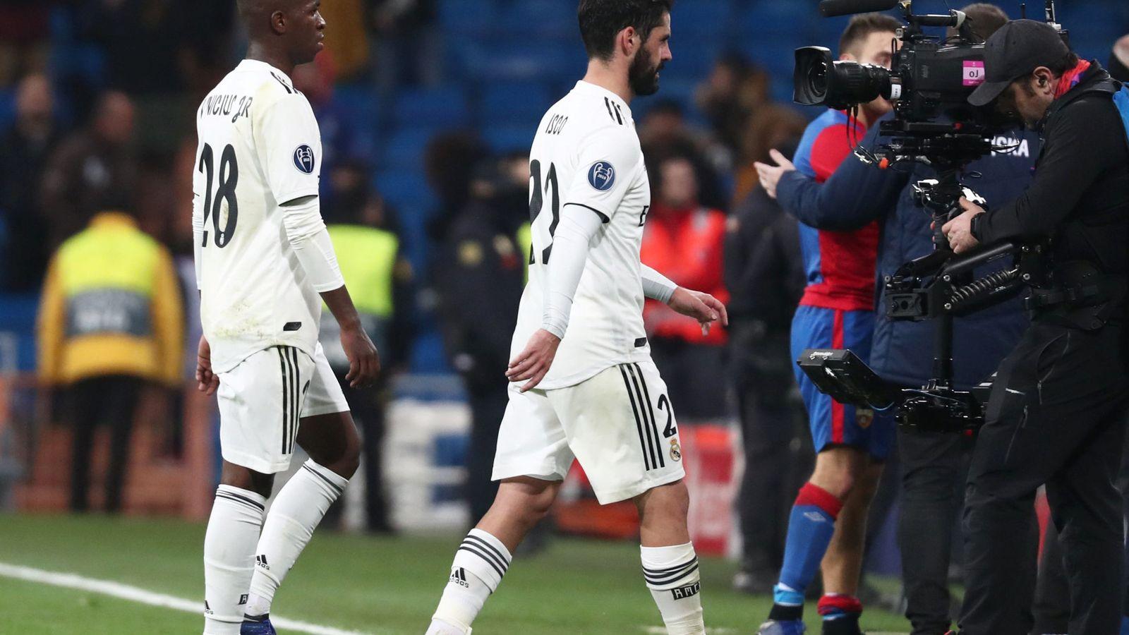 Foto: Isco se retira en el partido conta el CSKA. (Reuters)