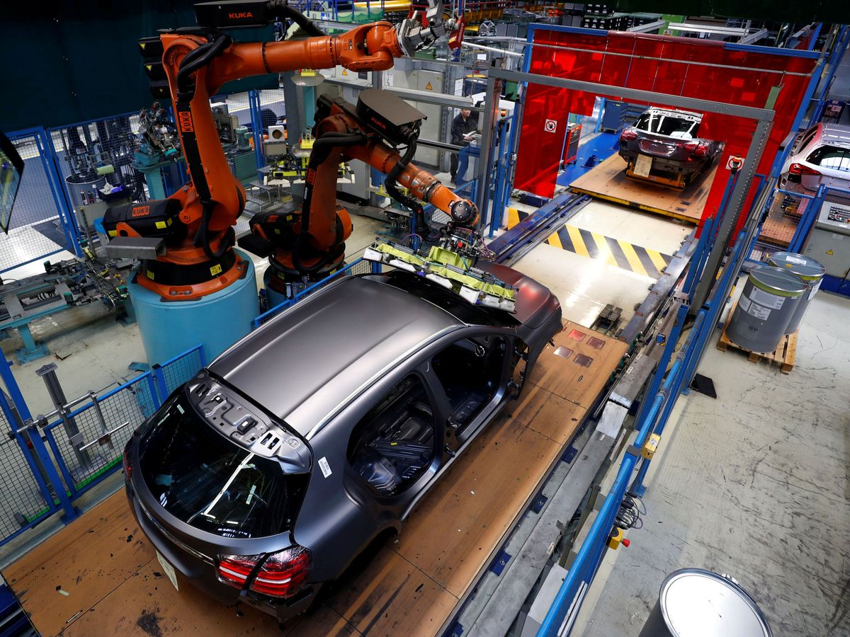 Foto: Una fábrica de automóviles en Alemania. (Reuters)