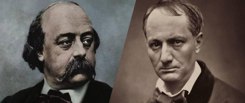 Foto: Flaubert y Baudelaire