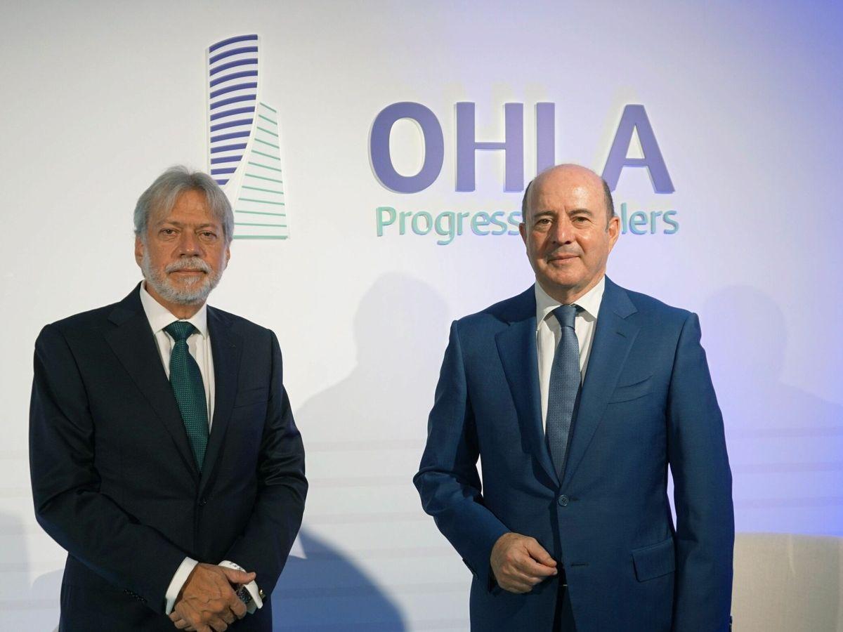 Foto: El presidente de OHLA, Luis Amodio (i), y el CEO de OHLA, José Antonio Fernández Gallar (d). EFE