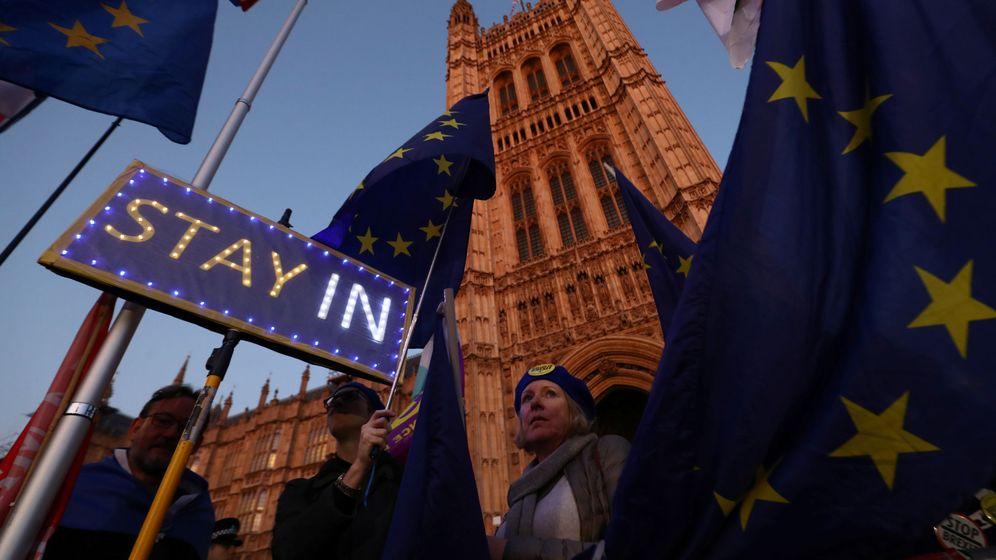 Foto: Manifestantes anti Brexit. (Reuters)