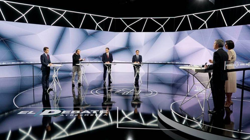 Foto: Imagen del debate electoral en Atresmedia. (Atresmedia TV)
