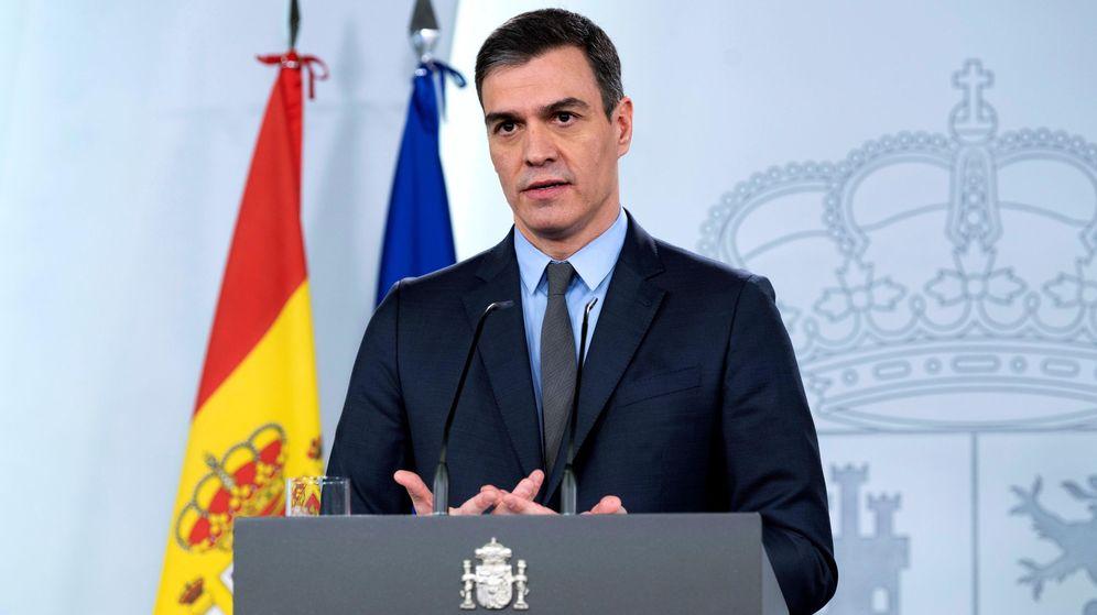 Foto: El presidente del Gobierno, Pedro Sánchez, en rueda de prensa. (EFE)