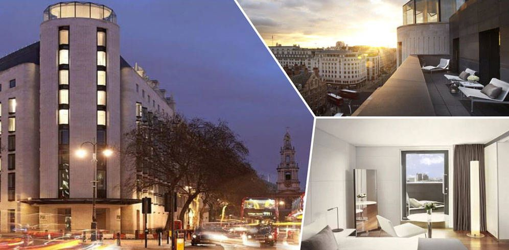 Foto: El ME London, el hotel de los Reyes en Londres, en un fotomontaje elaborado por Vanitatis.