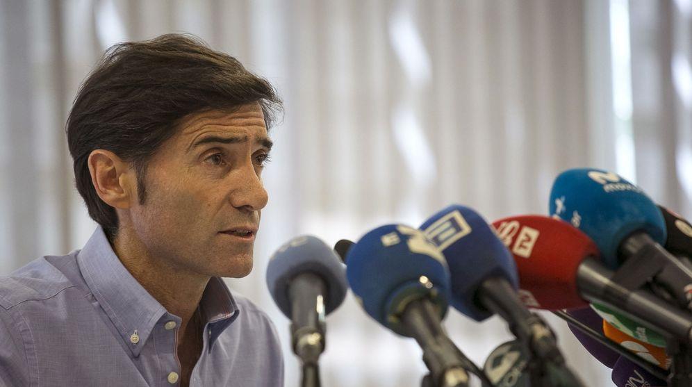 Foto: Marcelino García Toral, durante la rueda de prensa que ofreció en Madrid (EFE)