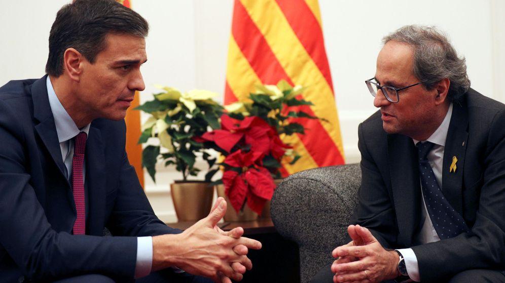 Foto: El presidente del Gobierno, Pedro Sánchez, y el presidente de la Generalitat, Quim Torra. (Reuters)
