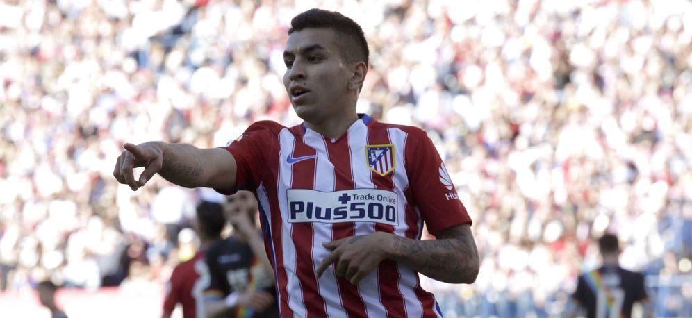 Foto: Ángel Correa celebra un gol marcado por el Atlético de Madrid (EFE)