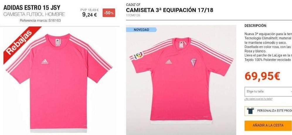 aa5d89dae32 Foto: Una camiseta básica con un escudo y el logo de la Liga puede costar