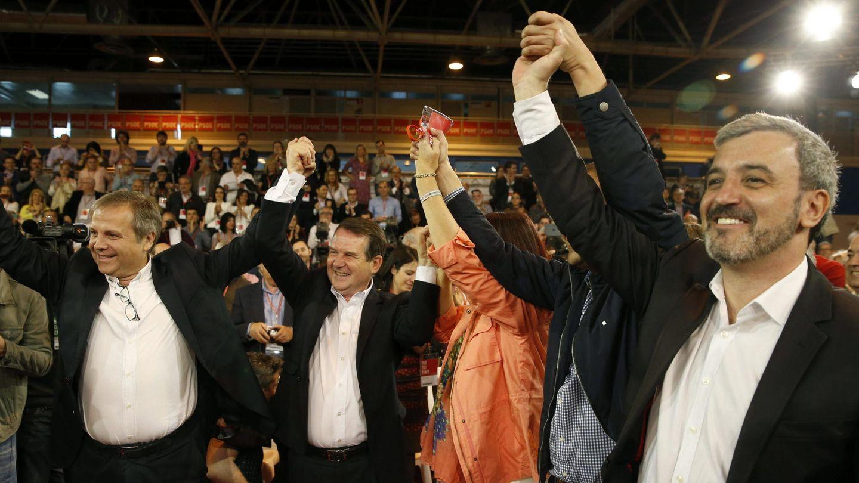 Los candidatos del PSOE a las alcadías de Madrid, Vigo y Barcelona. (Efe)
