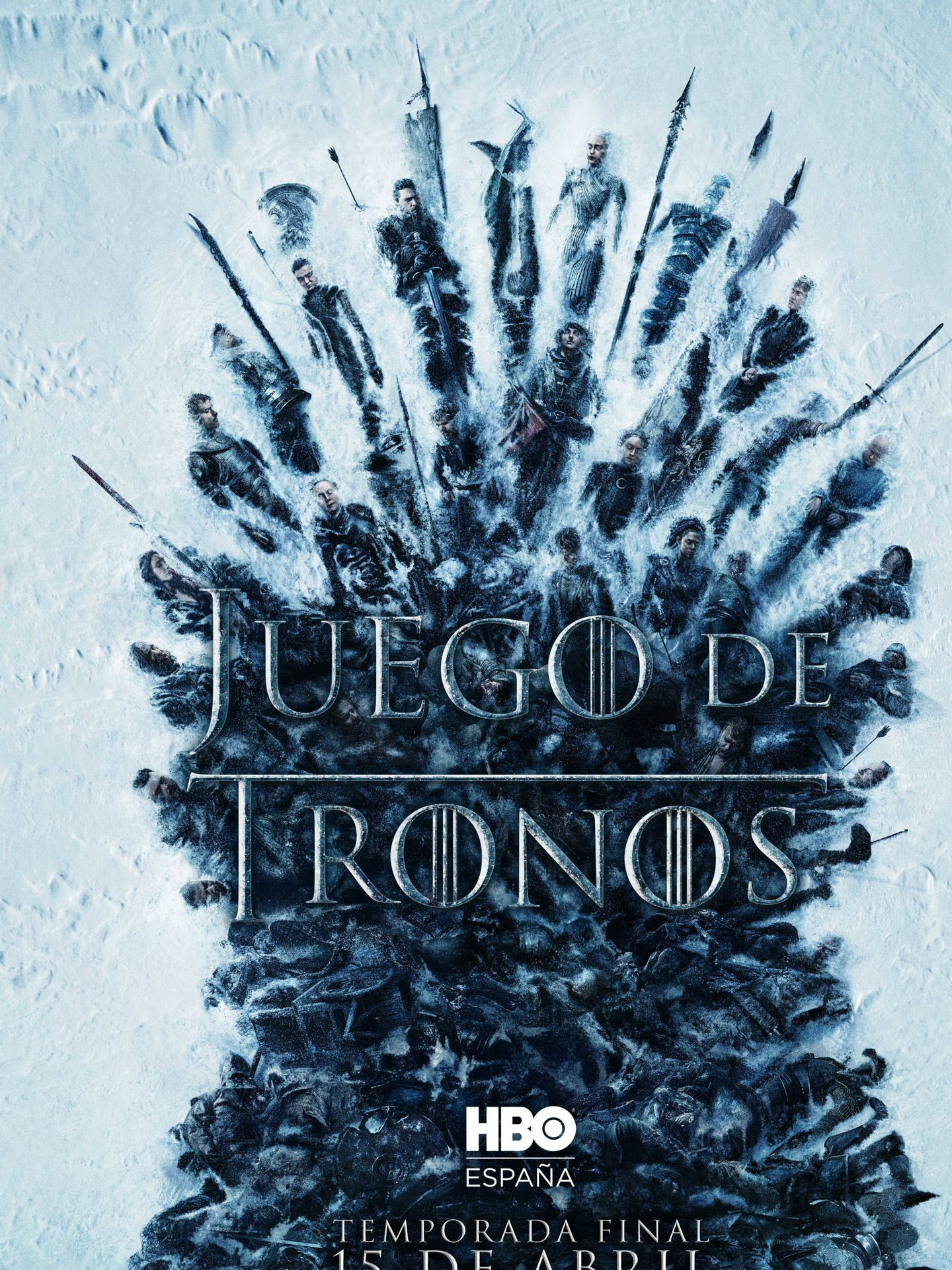Cartel promocional de la temporada final de 'Juego de tronos'. (HBO)