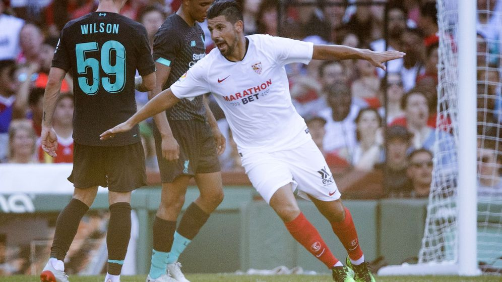 Foto: Nolito marcó uno gol en el amistoso que enfrentó al Liverpool y al Sevilla en Boston (Estados Unidos) hace unas semanas. (EFE)