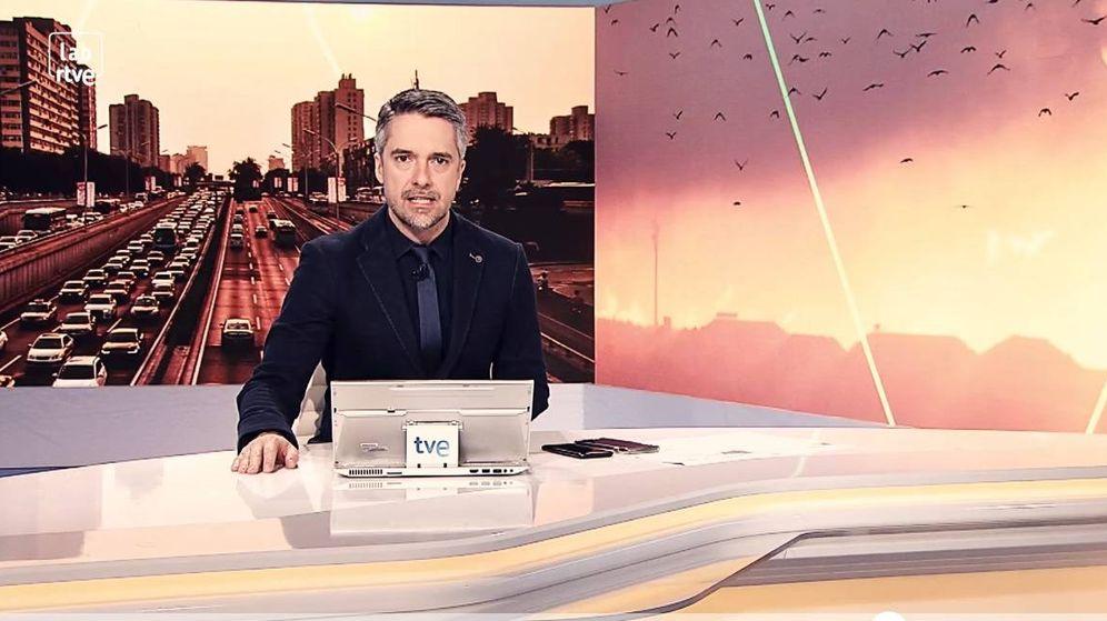 Foto: Carlos Franganillo, en el plató de TVE.